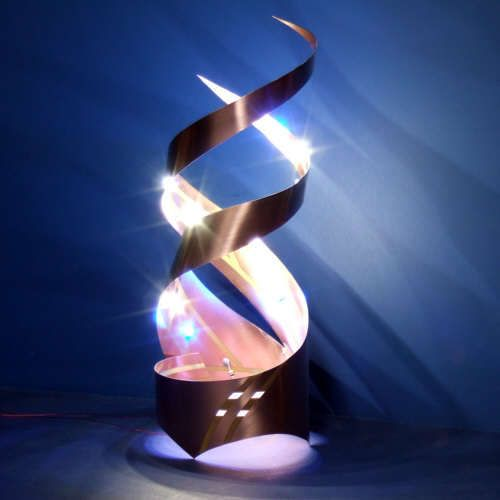 Curved Circuit Art Make A Double Helix Led Lantern Led Lantern Led Diy Lanterns