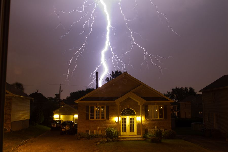 Well, the neighbour's house is usually pretty boring, exept on stormy night...