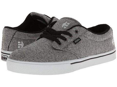 Men Etnies Jameson 2 Eco Trainers Black Grey