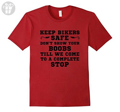 Men's Funny Quotes Birthday Gift, Keep Bikers Safe T-Shirt XL Cranberry - Birthday shirts (*Amazon Partner-Link)