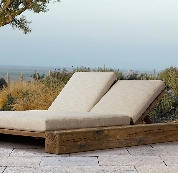 Restoration Hardware Aspen Double Chaise | outdoor chaise ...