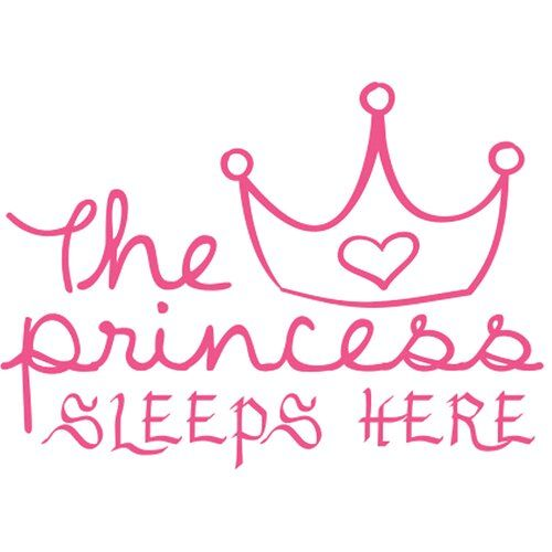 East Urban Home The Princess Sleeps Here Wall Sticker in 2019
