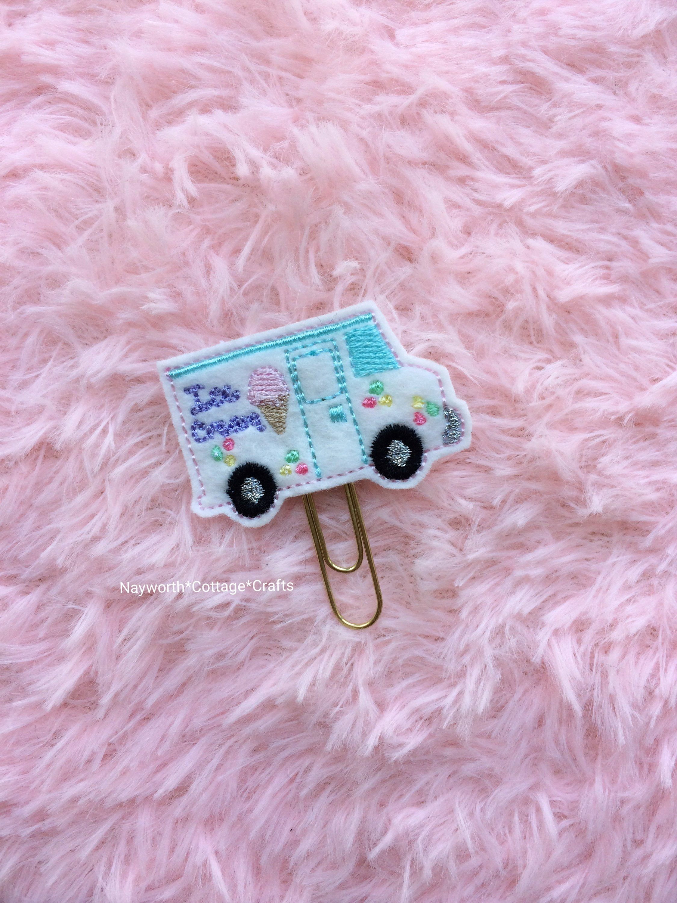 Embroidery charm Sewing machine planner paper clip kikkik diary craft