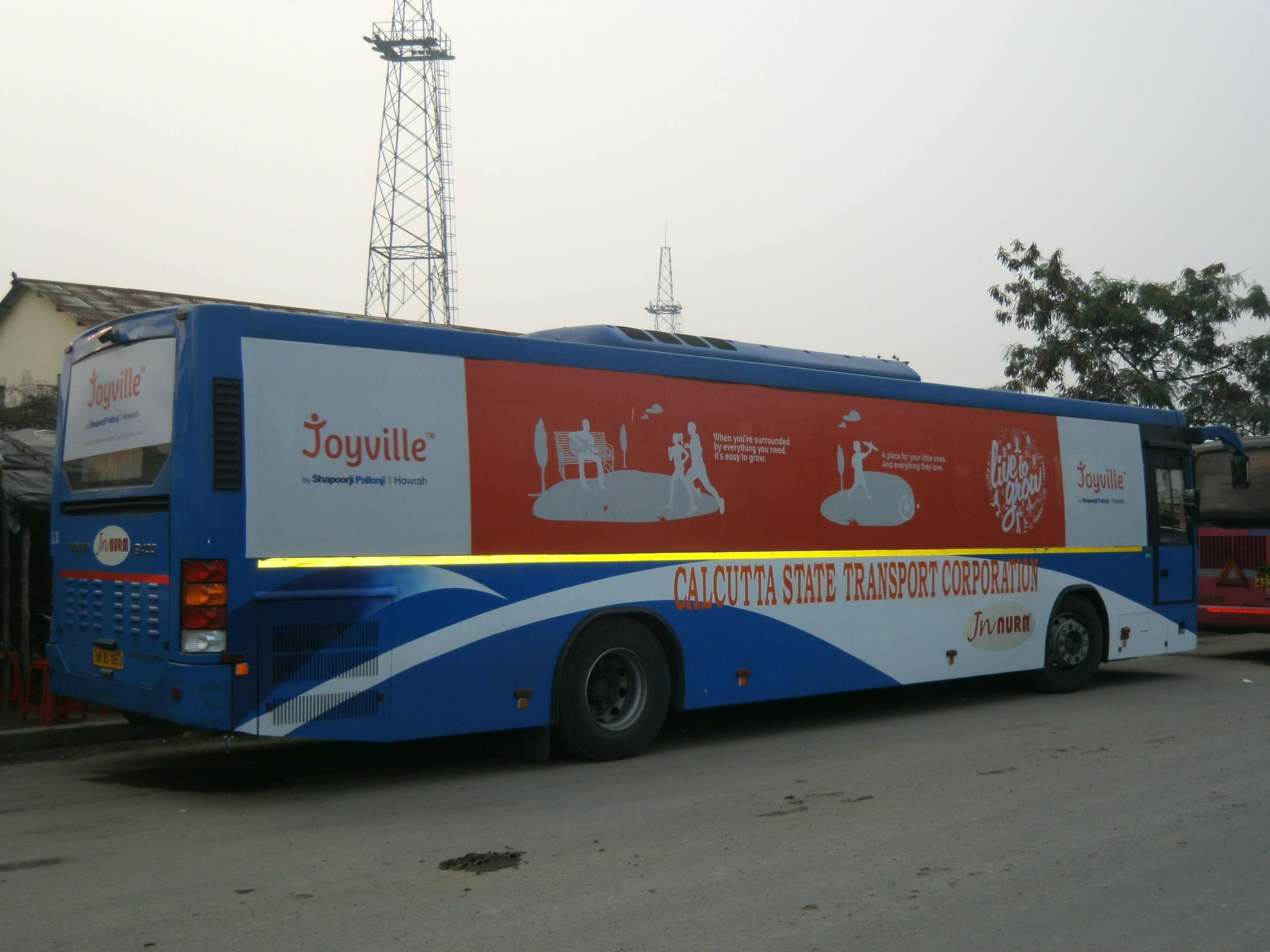 Volvo Bus Branding Kolkata With Images State Transport Bus