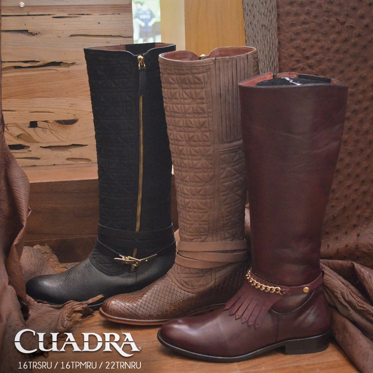 9b93411f77 Las estrellas de la temporada! #Boots #Botas #Dama #CUADRA #Leather ...