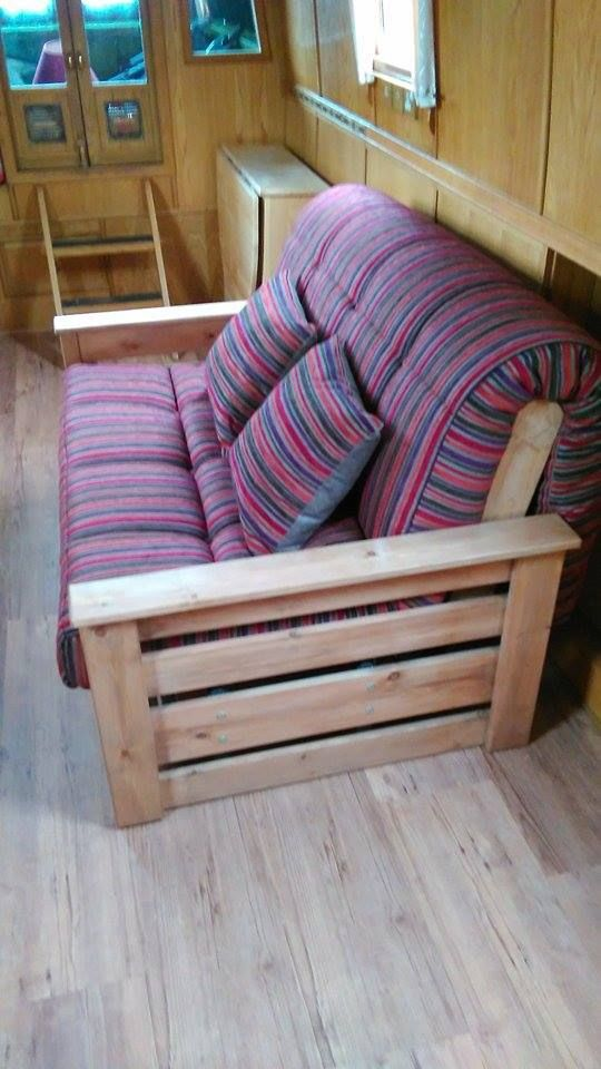 Aylesbury Small Sofa Bed With Handmade Mattress In A Funky