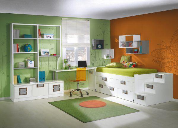 Dormitorios habitaciones juveniles e infantiles lacadas for Habitaciones juveniles pinterest