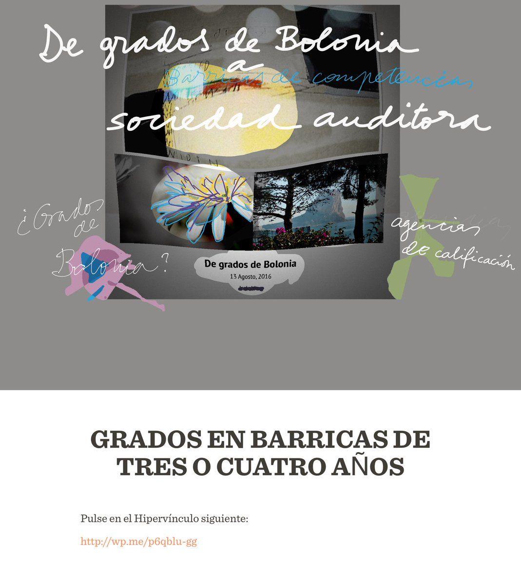 """Luis M Villar Angulo on Twitter: """"#Universidad. De grados de Bolonia a sociedad auditora. Pulse en https://t.co/WEPyK7uviR https://t.co/FERgwhmHJp"""""""