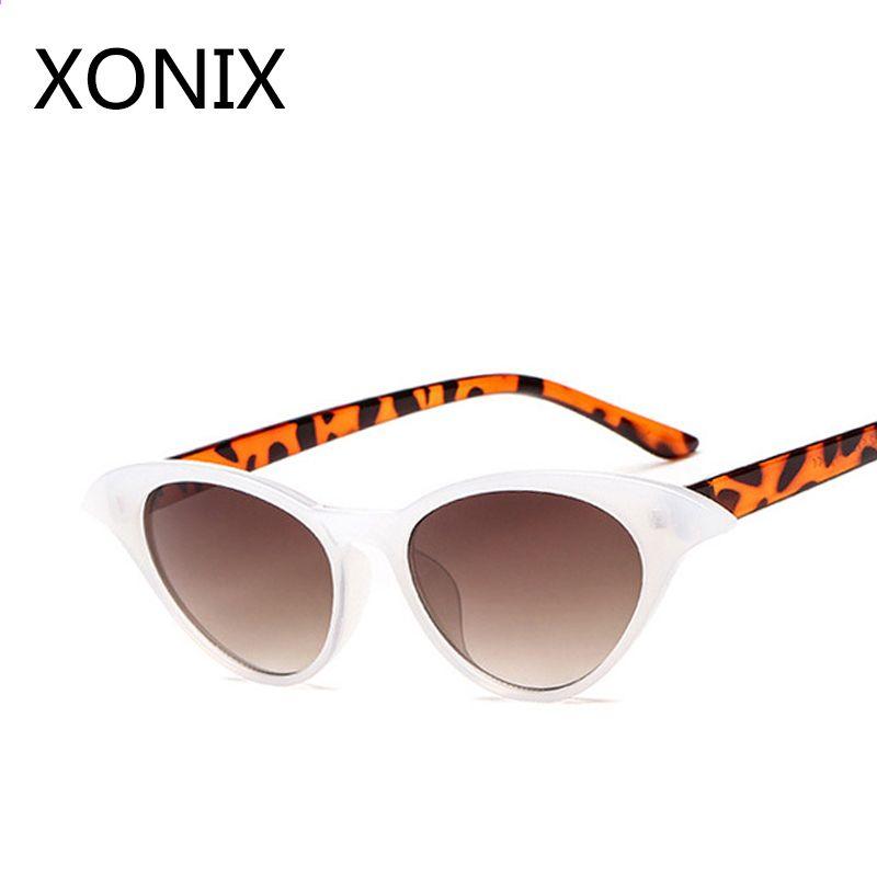 e9f251d7363779 XONIX Vintage Okulary przeciwsłoneczne Damskie Cat Eye Luxury Brand  Designer Okulary Retro Małe Czerwone damskie Okulary