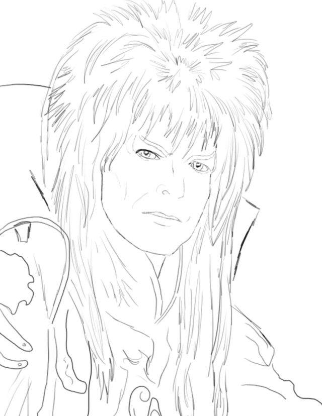 Jareth Coloring Books David Bowie Manga Coloring Book