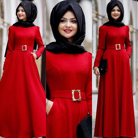 Pinar Sems Kirmizi Abiye Modelleri Ve Trend Renklerden Olusan Abiye Resiml Tesettur Markalari Muslim Fashion Dress Model Dress Muslim Women Fashion
