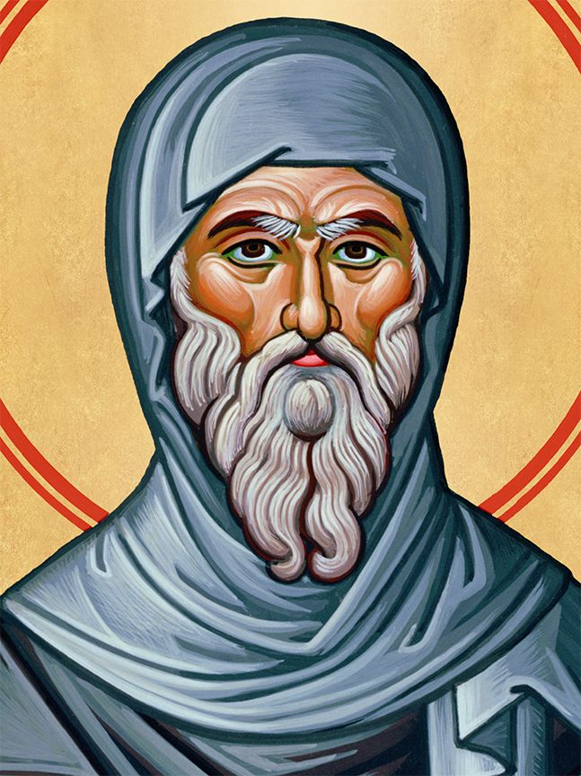 face of St. Anthony the Great.