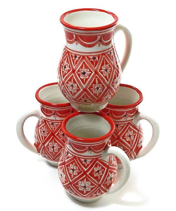 Look at this Le Souk Ceramique Nejma Large Mug - Set of Four on #zulily today!