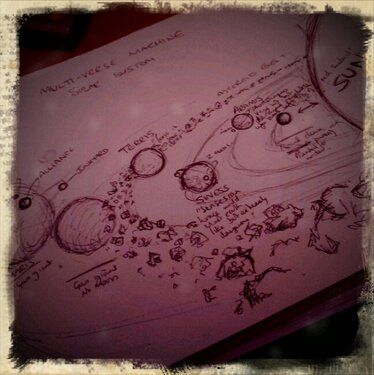 Sketch of the Multi-Verse Machine solar system, will scan it properly at some point