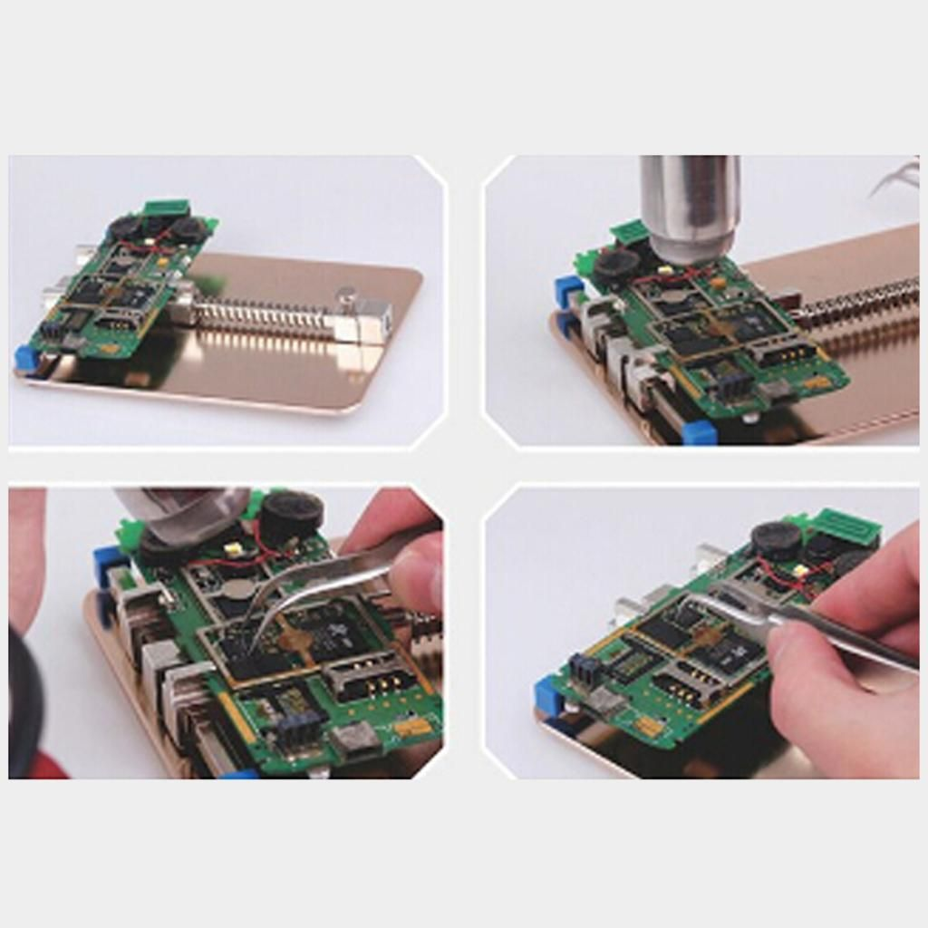 High Quality New Stainless Steel Mobile Phone Pcb Fixtures Repairing Circuit Boards Holder Gold With Images Circuit Board Phone Holder Mobile Phone