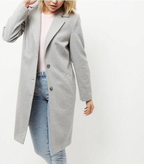 Grey Longline Coat | New Look | Grey coat, Maternity coat, Coat