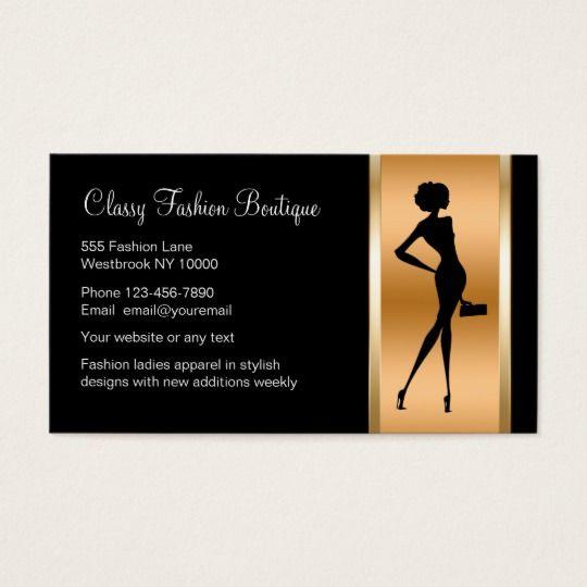 Classy Ladies Fashion Boutique Business Card Zazzle Com In 2021 Boutique Business Cards Fashion Business Cards Boutique Cards