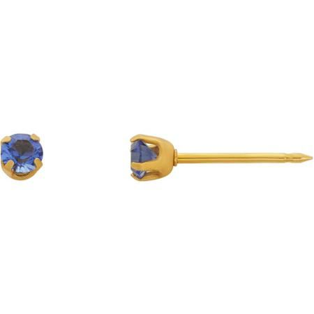 Home Ear Piercing Kit with 14kt Yellow Gold 3mm September Birthstone