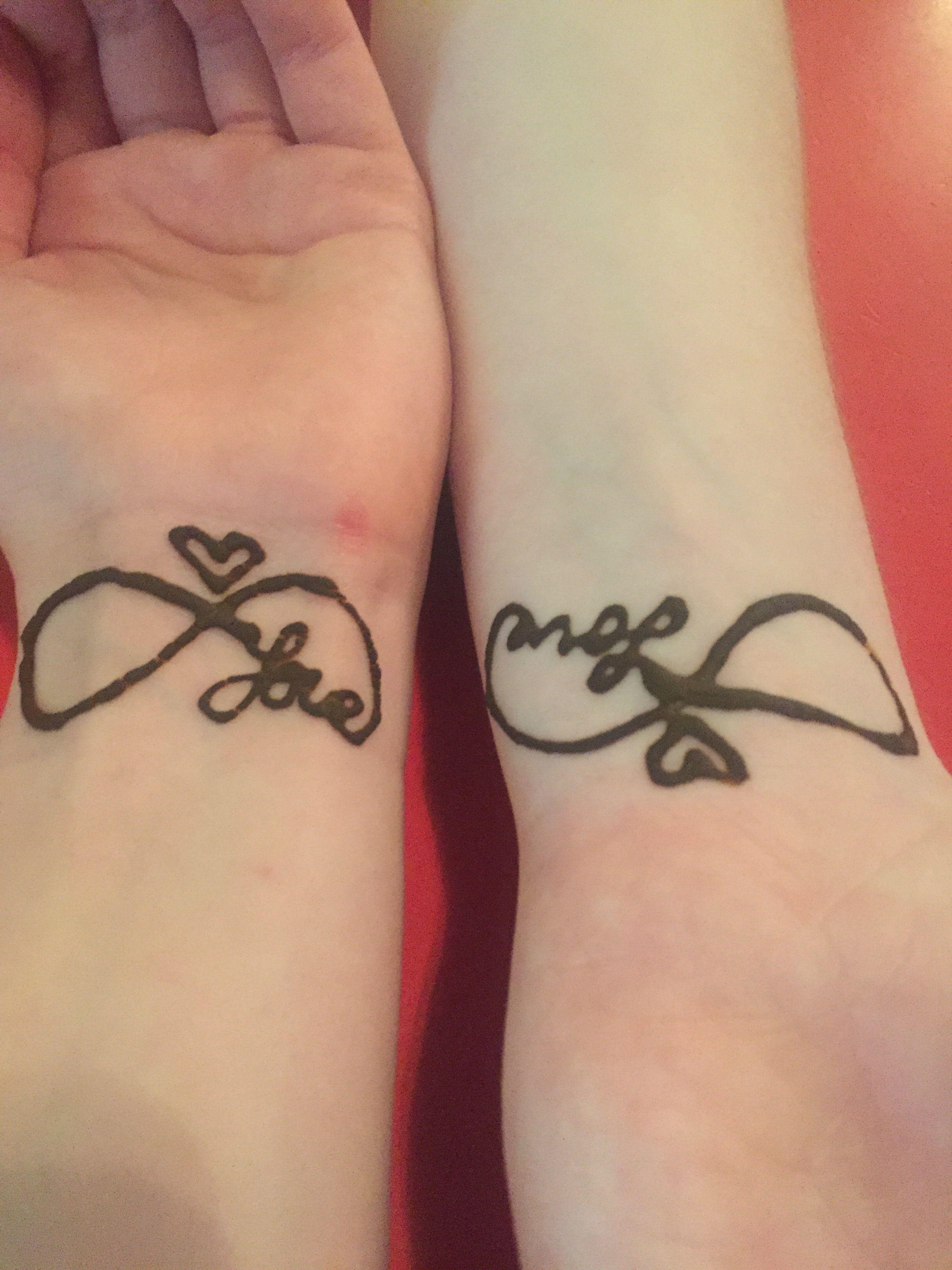 Bestie and i got henna tattoos yep pinterest