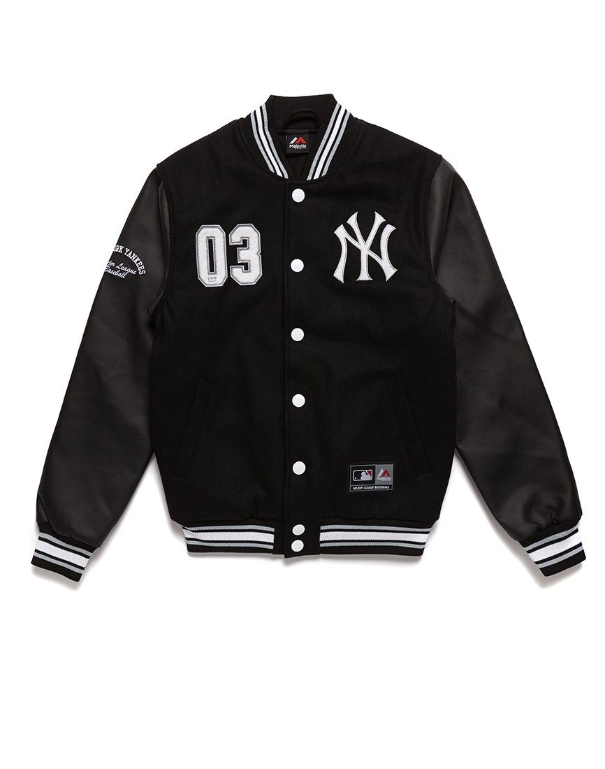 24a1d1c99eadd Majestic Athletic NY Yankees Letterman Jacket Flat