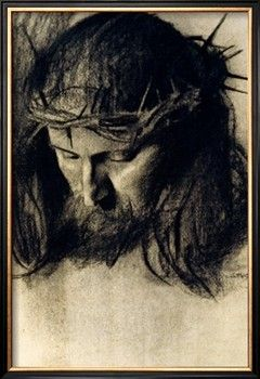Head of Christ, circa 1890 Giclee Print by Franz von Stuck at Art.com