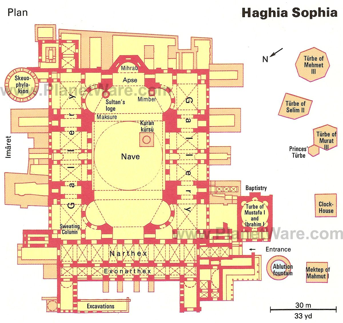 istanbul ayasofya floor plan map travel pinterest