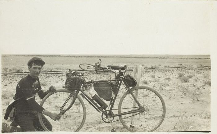 Exactly A Hundred Years Ago 21 Year Old Cyclist And Photographer