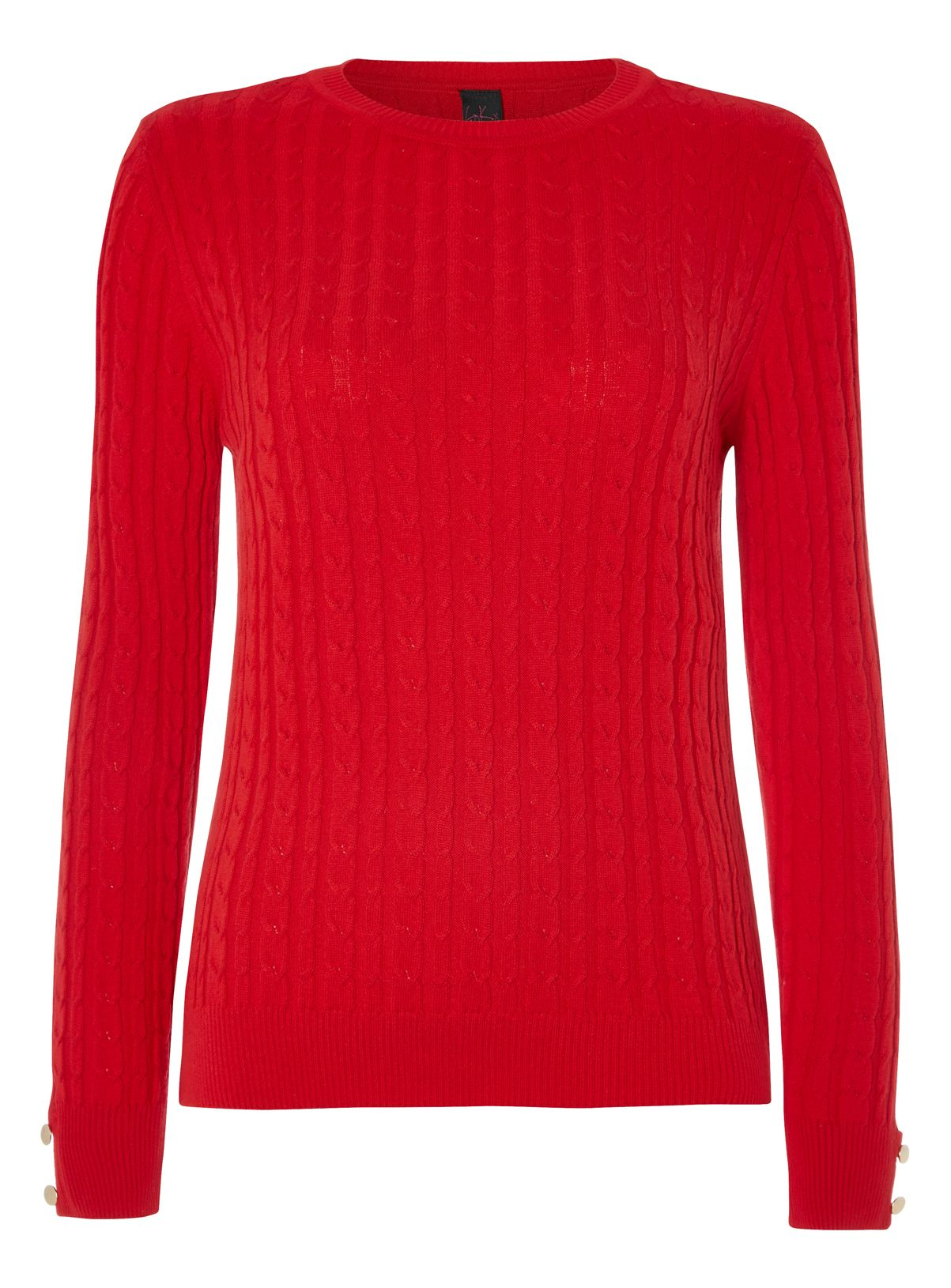 Womens Gok Red Cable Knit Jumper Tu clothing Clothes