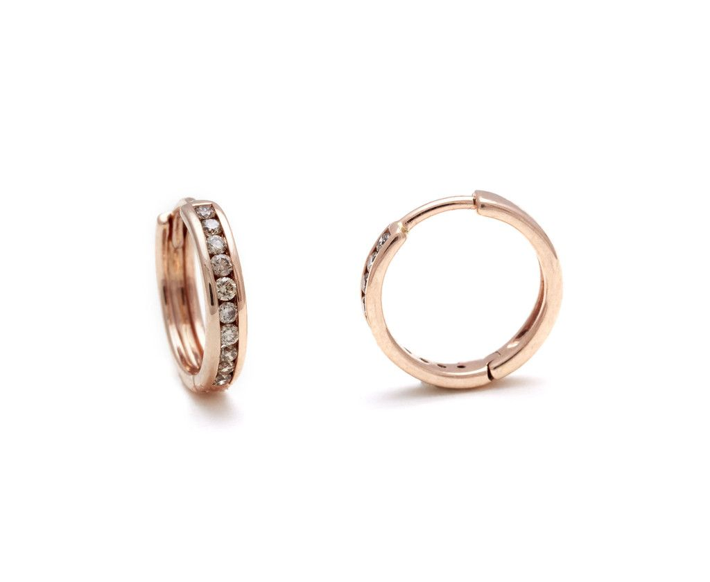 Licol Hoops - Champagne Diamonds in Rose Gold – @AnnaSheffield