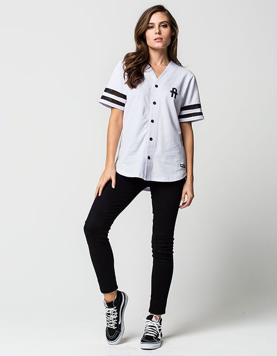 255aff022 YOUNG & RECKLESS Solid Play Womens Baseball Jersey   Fashion ...
