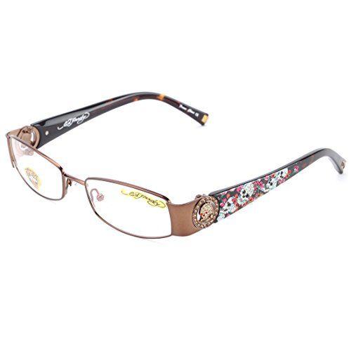 Ed Hardy EHO-714 Womens Designer Eyeglasses - Latte Ed Hardy | Ed ...