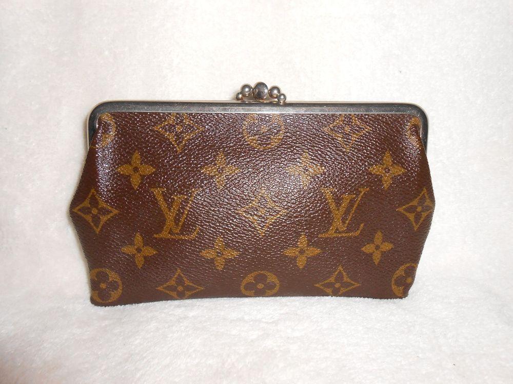 e5f68bfde9c Vintage louis vuitton monogram canvas wallet coin purse clutch