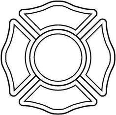 Firefighter Maltese Cross Stencil Google Search Firefighter