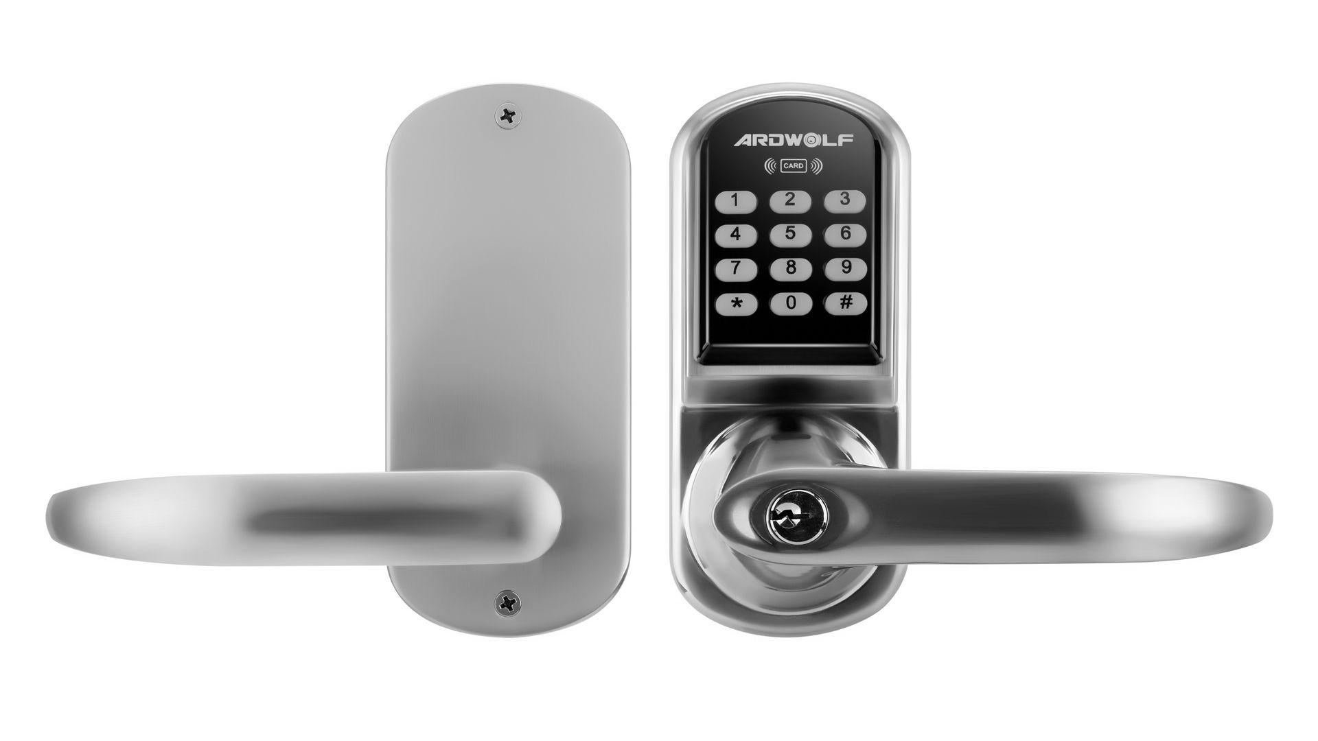 keyless ways fingerprint door smart keypad locks three code pin to ardwolf user electronic ultraloq for doors lock lever unlock touchscreen and