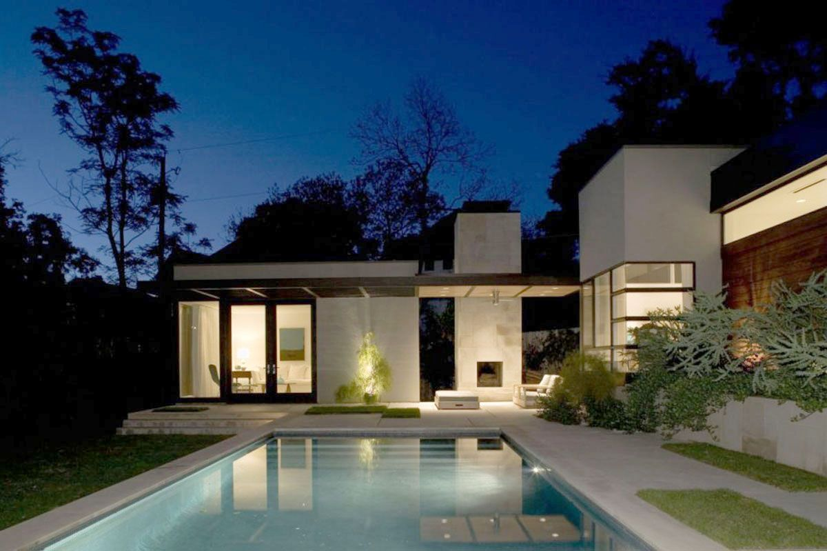 Fresh Modern Design Of The House Plans With Pictures And Cost To Buildwith Lareg Fresh Pool In Front Of House Architecture Design Houses In Austin Architecture