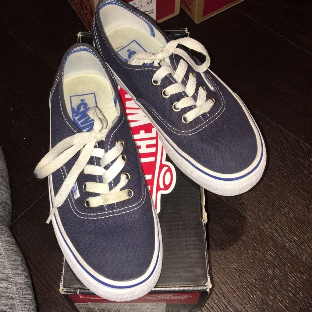 Vans Shoes   Navy Vans   Color: Blue   Size: 5   Navy vans