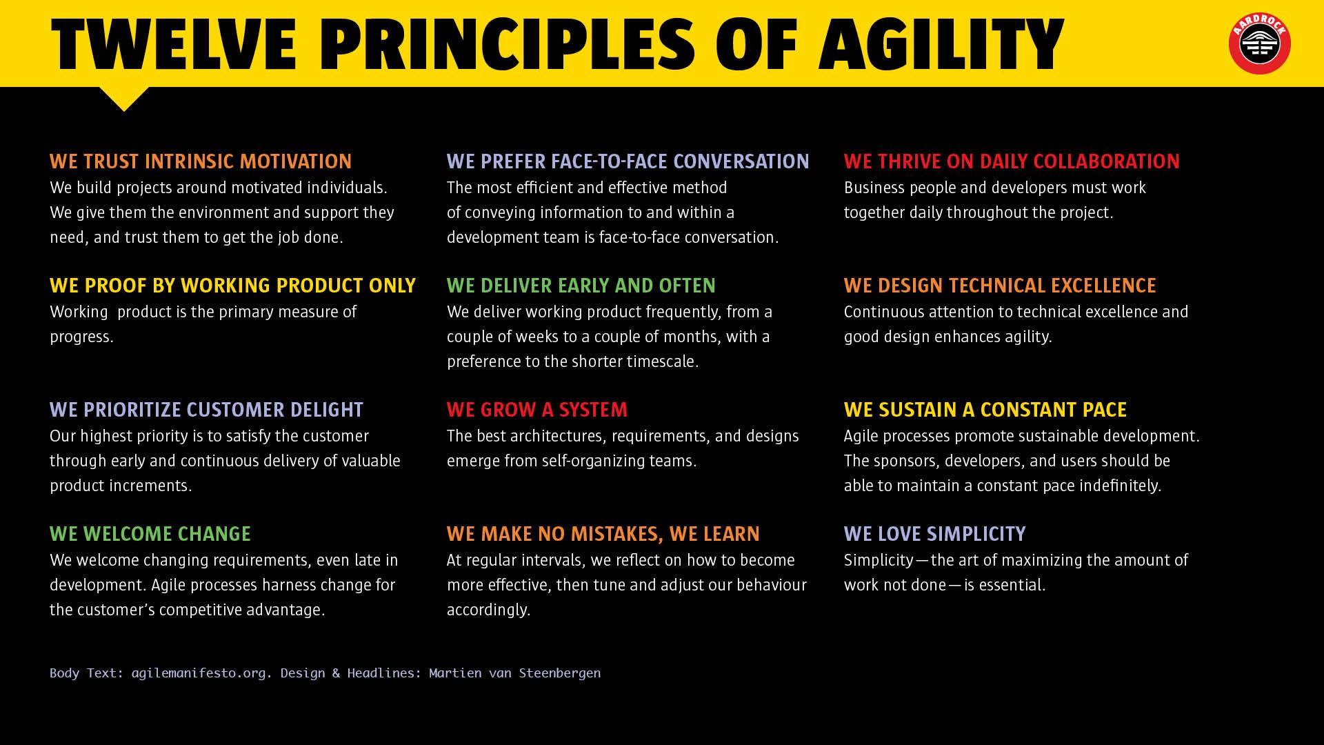 Principles of the agile manifesto tech pinterest