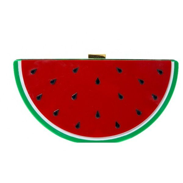 Watermelon Clutch ($56) ❤ liked on Polyvore