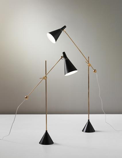 scandinaviancollectors:  Tapio Wirkkala, pair of standard lamps, model no. K 10-11, circa 1954 for Idman. Phillips Nordic Design, September 2013.
