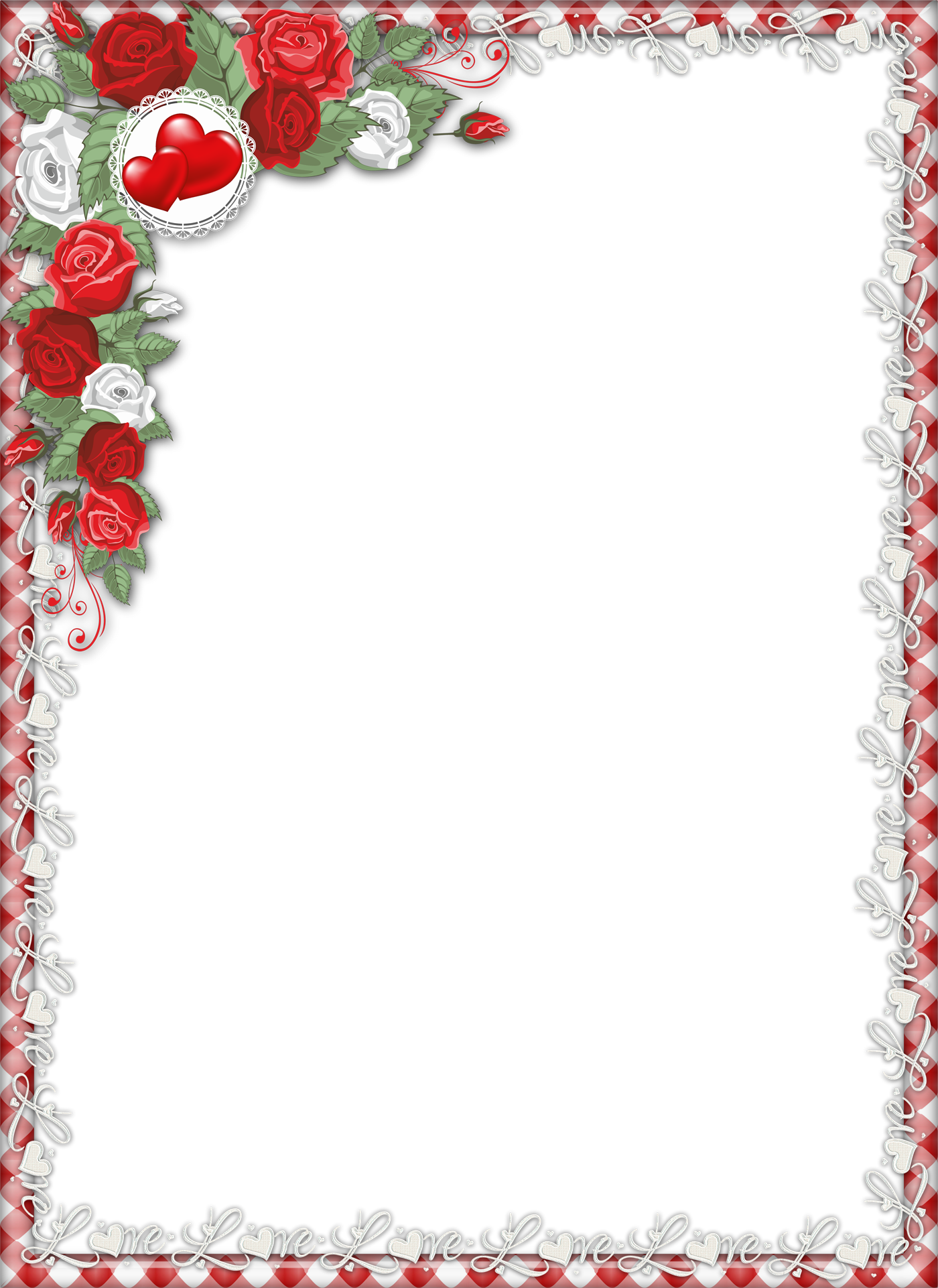 Love Png Page Borders Frame Clipart Al Photo For Paper