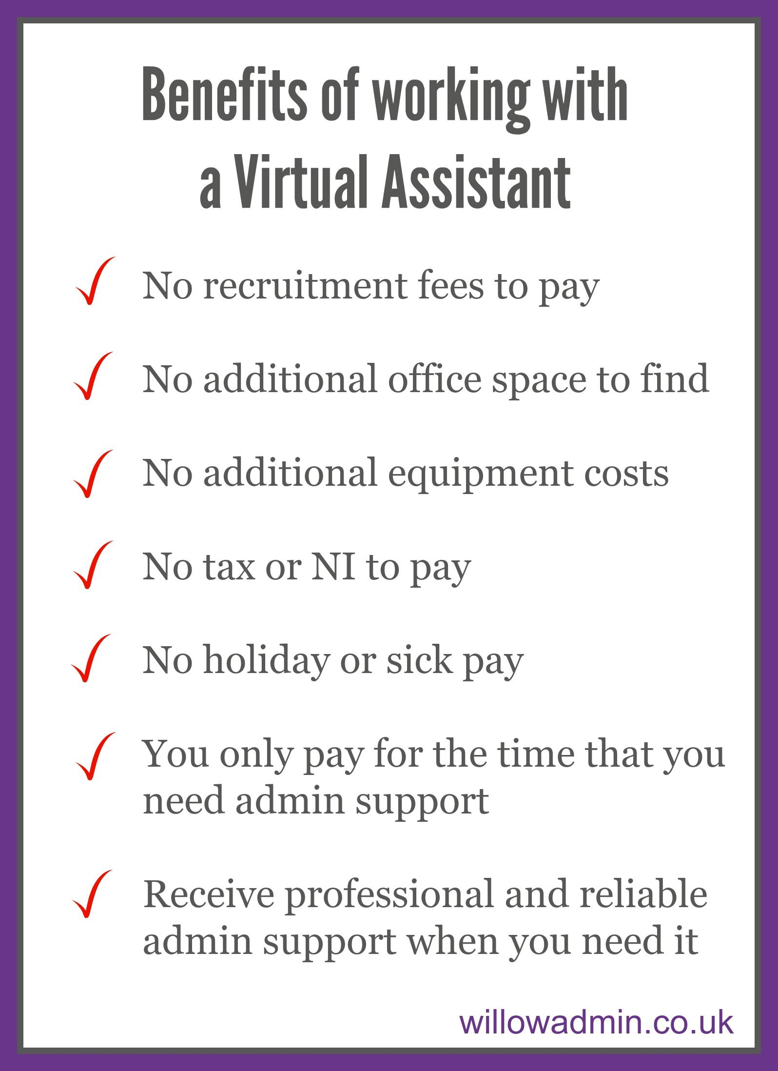 Benefits of working with a Virtual Assistant #cremeva ...