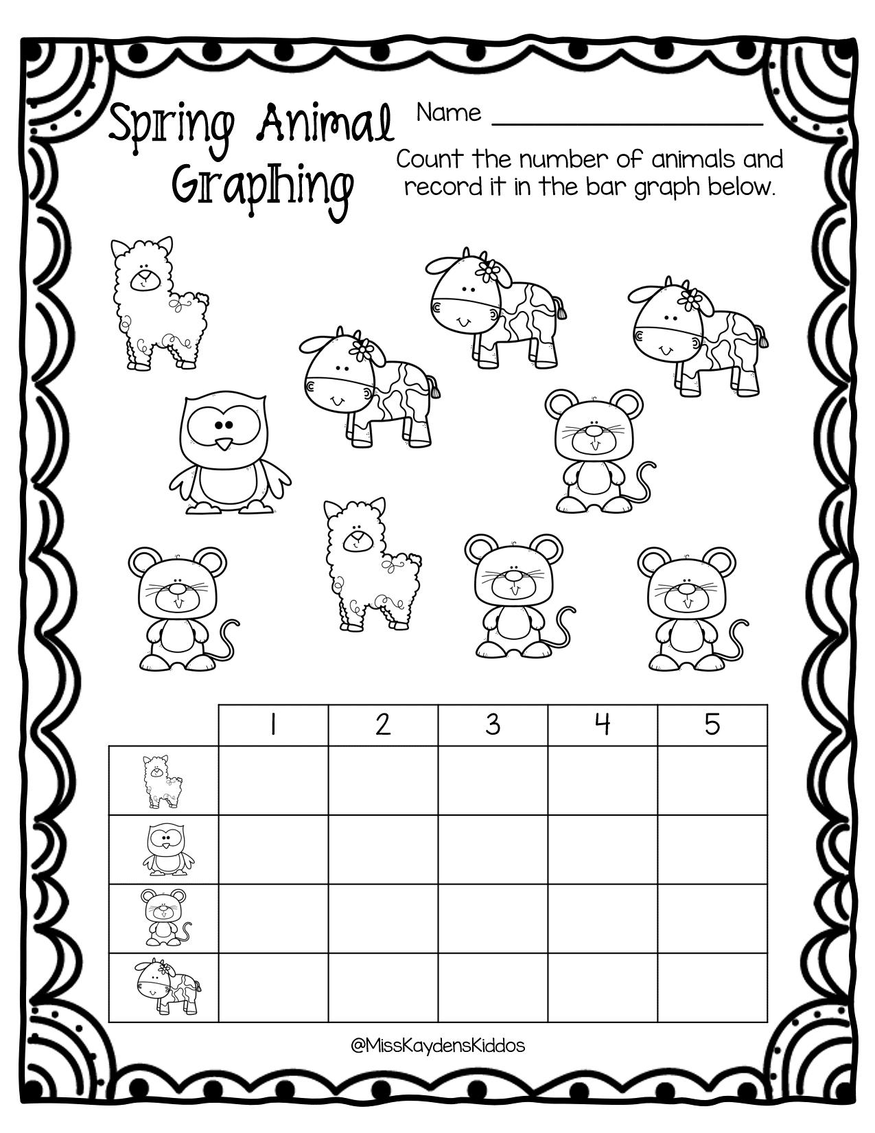 Printable Spring Animal Bar Graphing Worksheets Kids Data Etsy In 2021 Graphing Worksheets Math Worksheets Sight Word Flashcards [ 1650 x 1275 Pixel ]