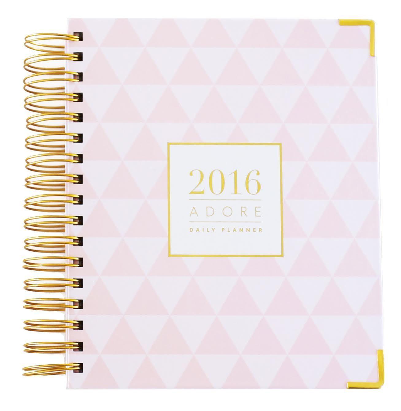 Adore Magazine 2016 Daily Planner in Pink | cuadernos | Pinterest