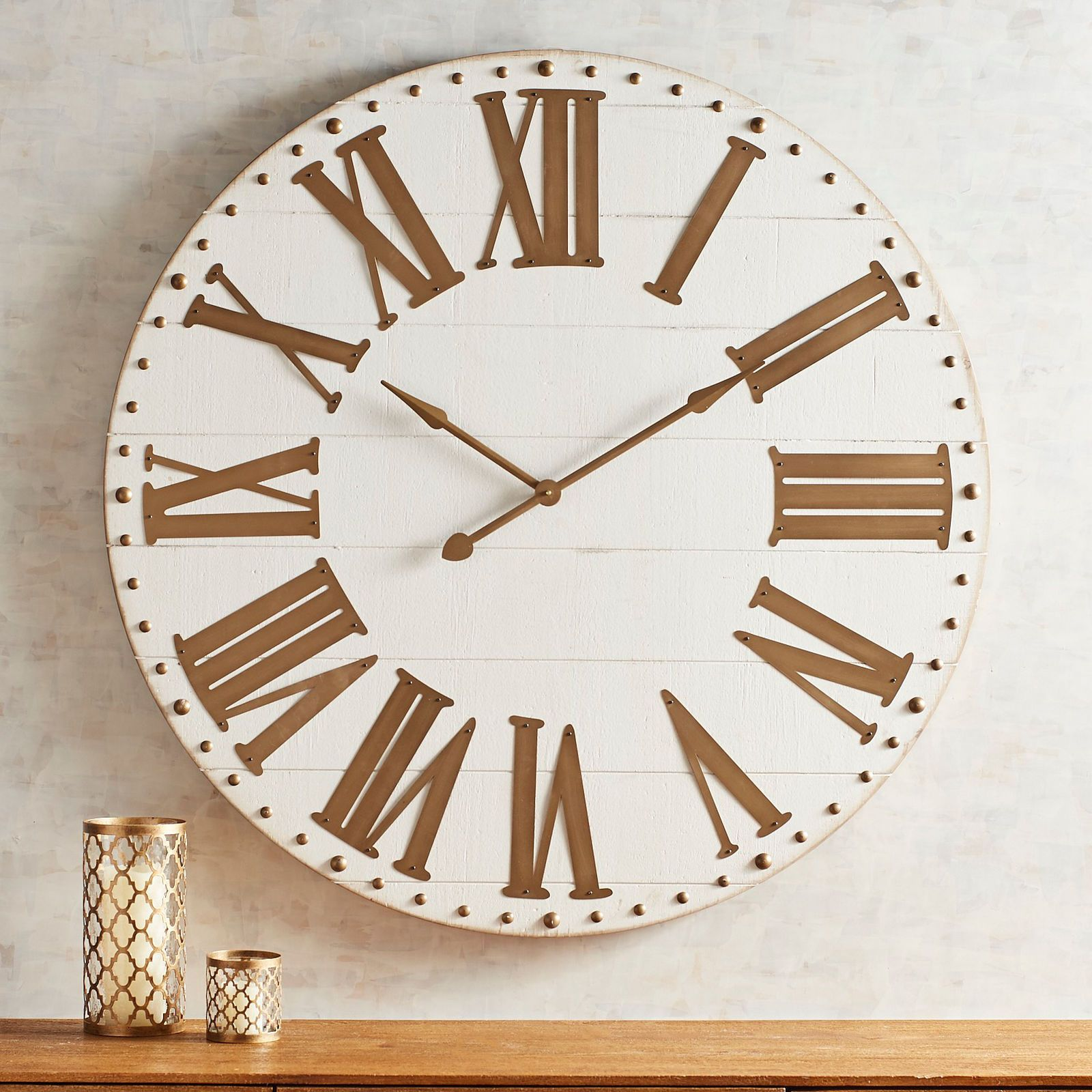 White Gold Wall Clock Pier 1 Imports Gold Wall Clock
