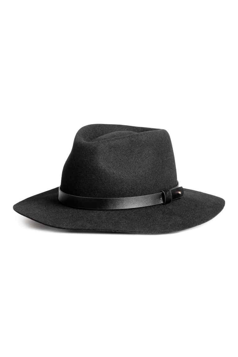 Sombrero de fieltro - Negro - MUJER  7ca4e139737