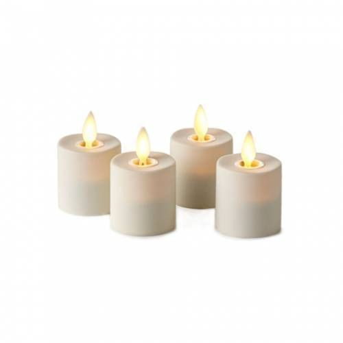 Wax-less Flameless 6 Luminara Flickering Rechargeable Tea Lights Candle set