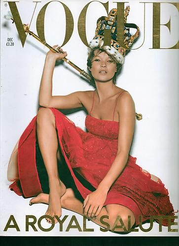 "Vogue December 2001 Mint Copy Kate Moss Cover ""The Past in Vogue"" 