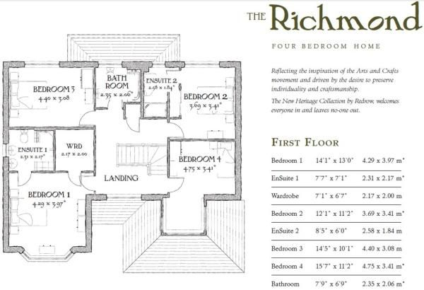 Redrow richmond floor plan google search houses for Richmond floor plan