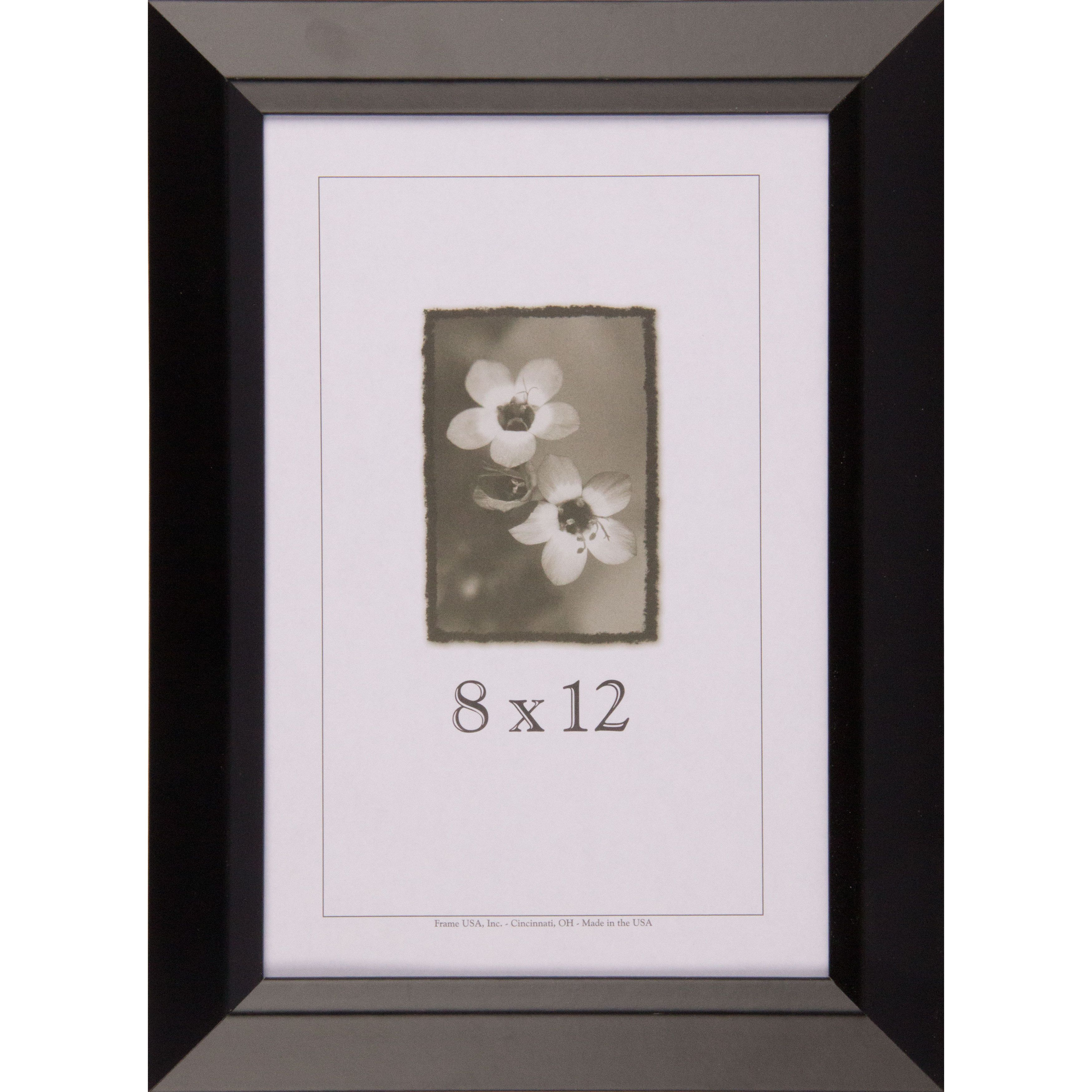 Black Narrow Picture Frame 8.x12 (Black, 8x12) (Wood) | Outlet store ...