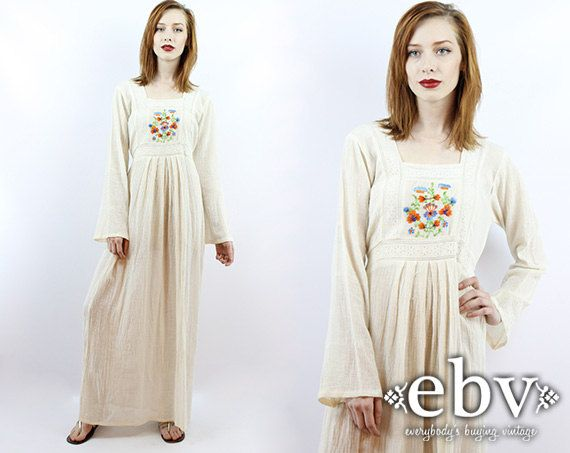 Vintage Hippie Dress Boho Wedding Dress Hippie Wedding von shopEBV, $98.00